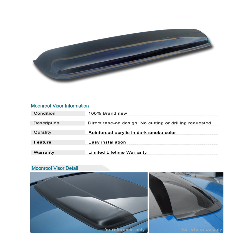 Moonroof Visor Moon Roof Vent Rain Guard Sun Shield 38