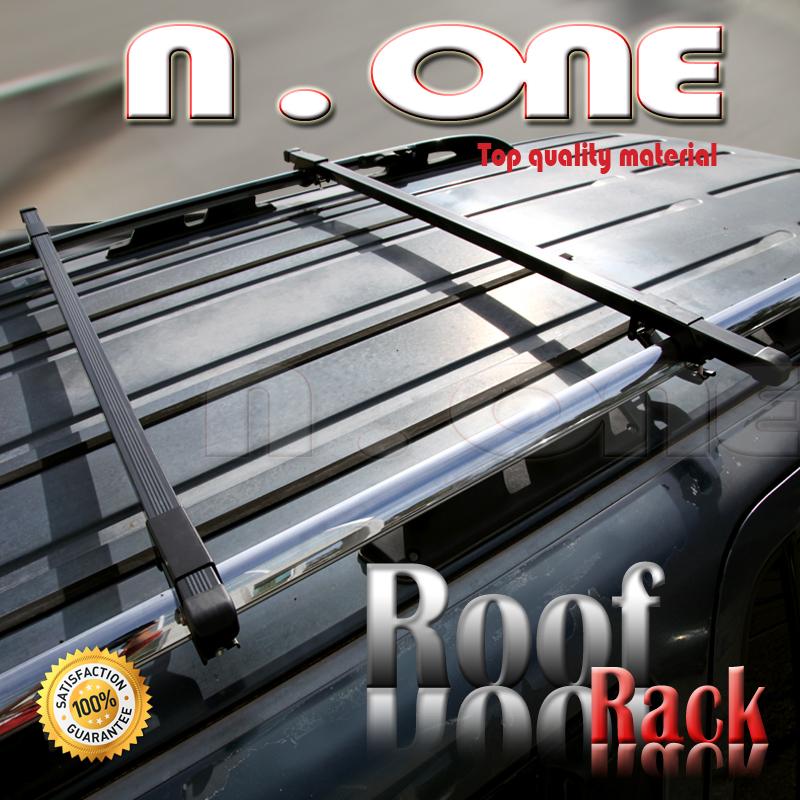 Volvo Xc70 Xc90 V50 Black Roof Top Rail Rack Cross Square