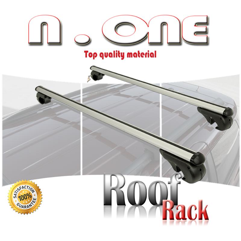 07-13 M-Way Aluminium Roof Rack Rail Cross Bars for Honda Jazz Fixing Kit 12