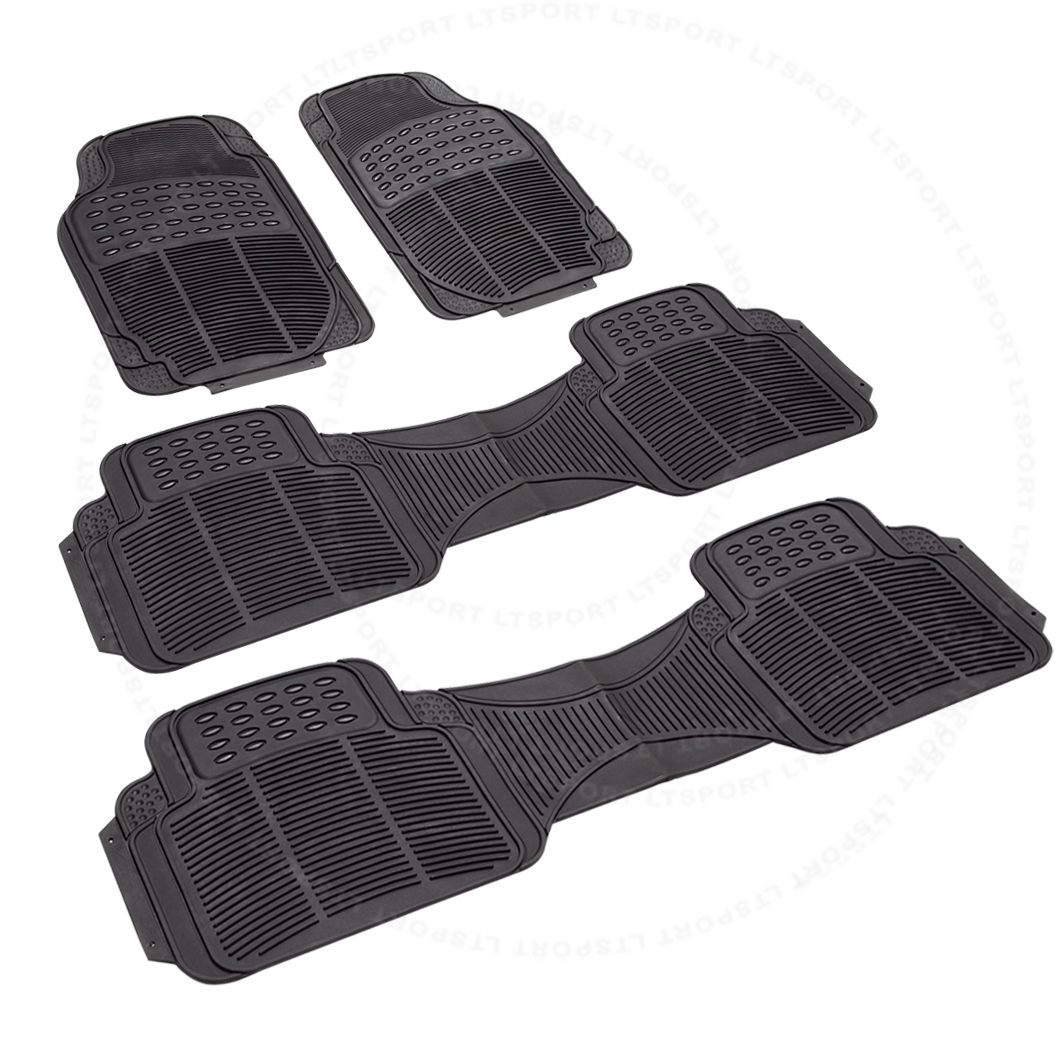 92-14 克莱斯勒 TOWN & COUNTRY VOYAGER 防水3-ROW RUBBER FLOOR MATS 4PCS