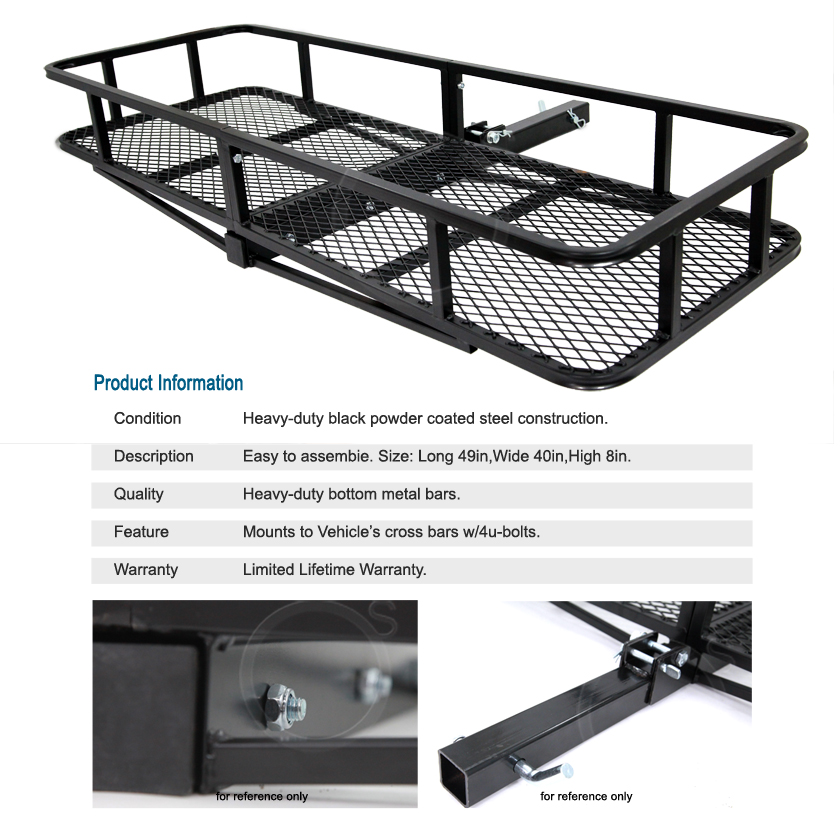 Lincoln Trailer Tow Hitch Rack Car Cargo Carrier Traveling