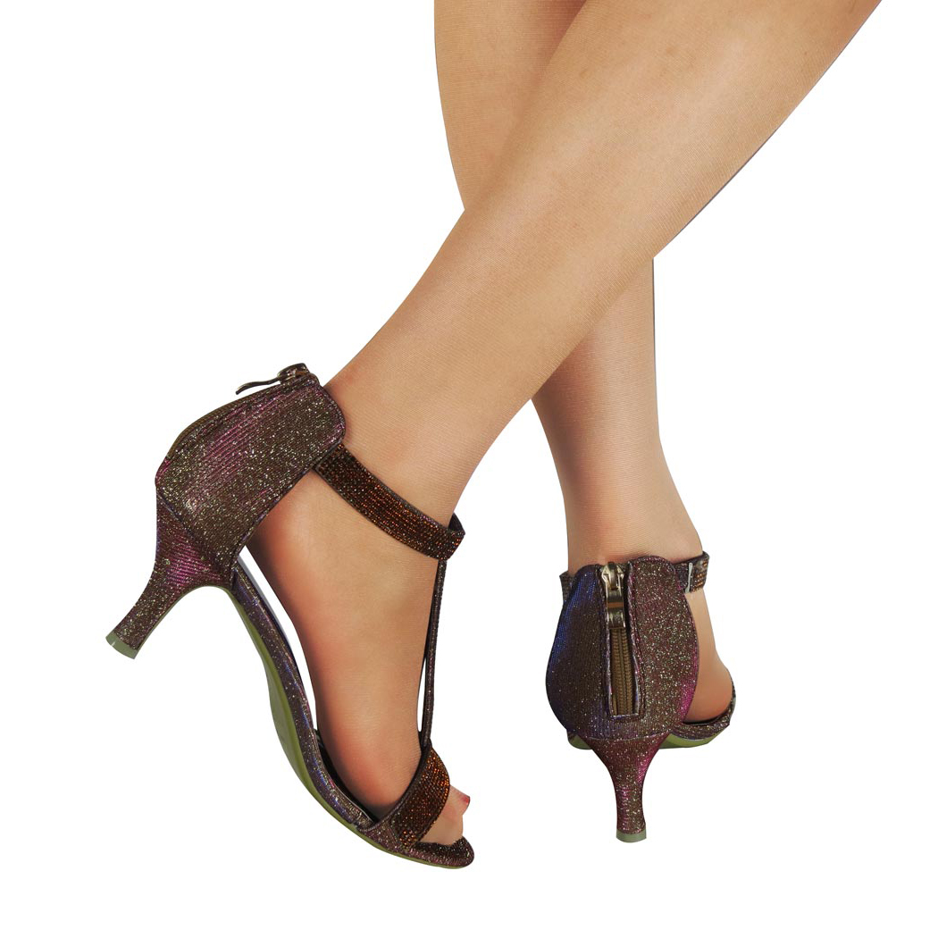 Bronze Ladies Party Shoes