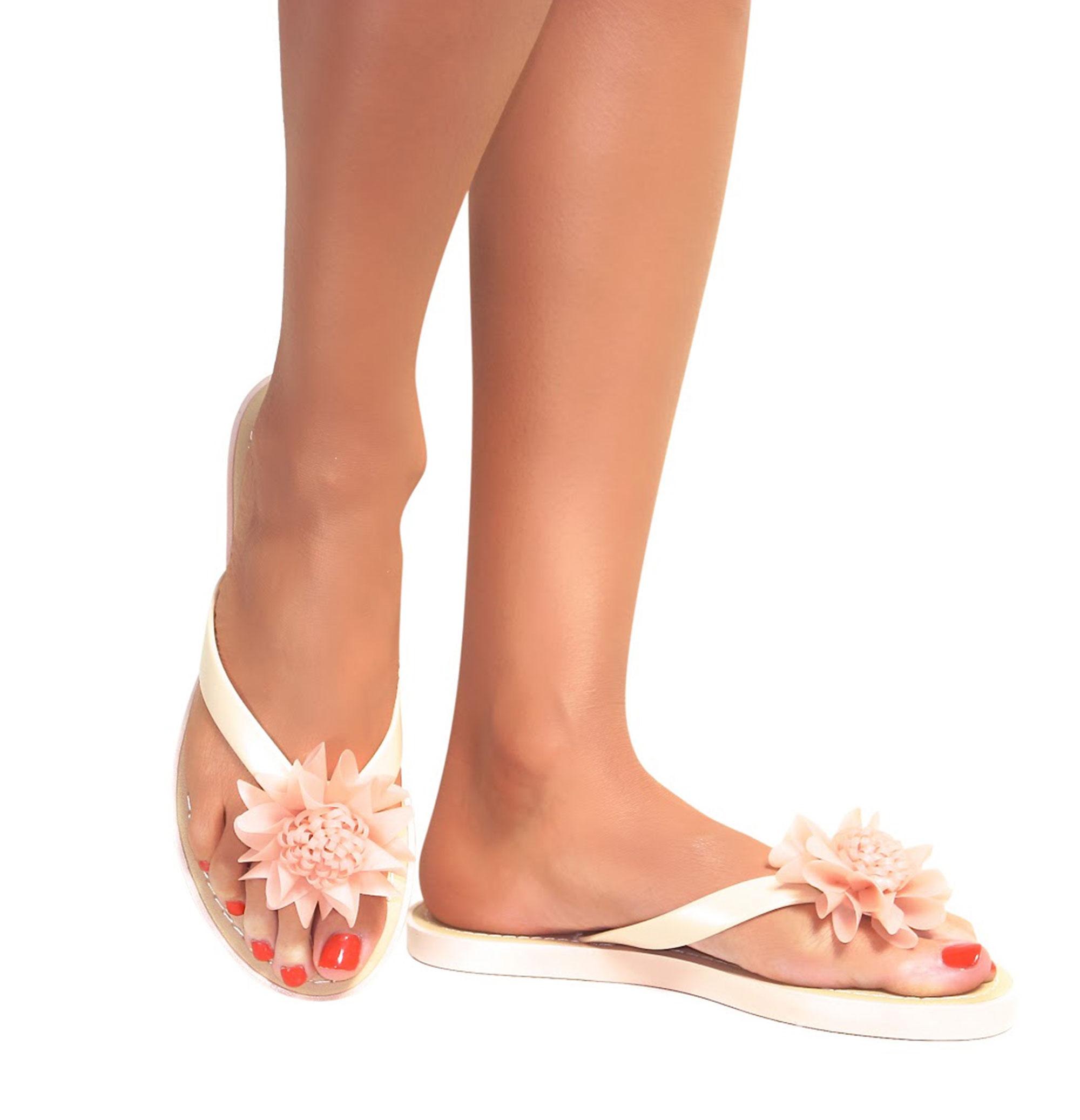 Ladies Flower Wedge Shoes