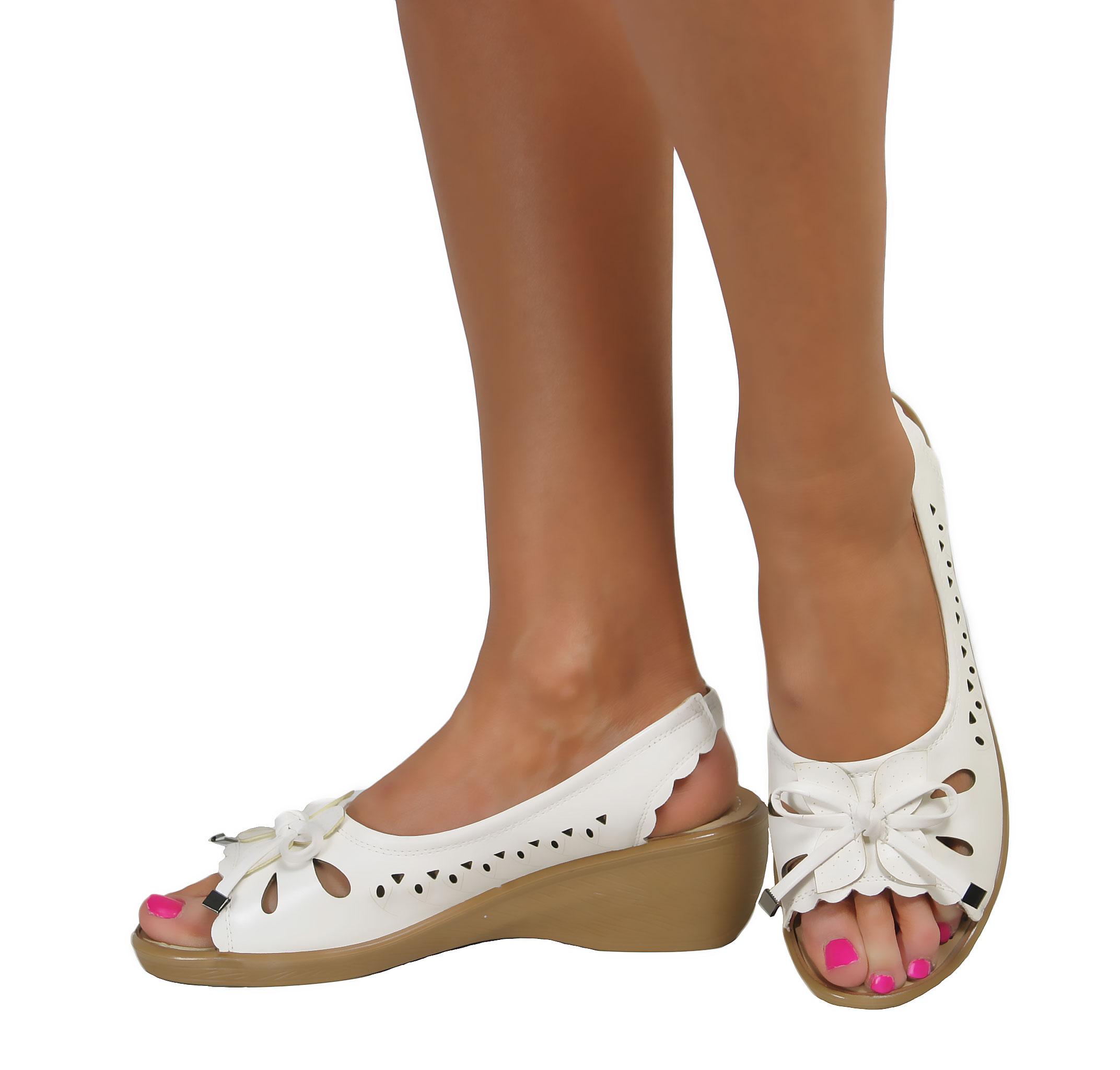 White Slingback Walking Shoe