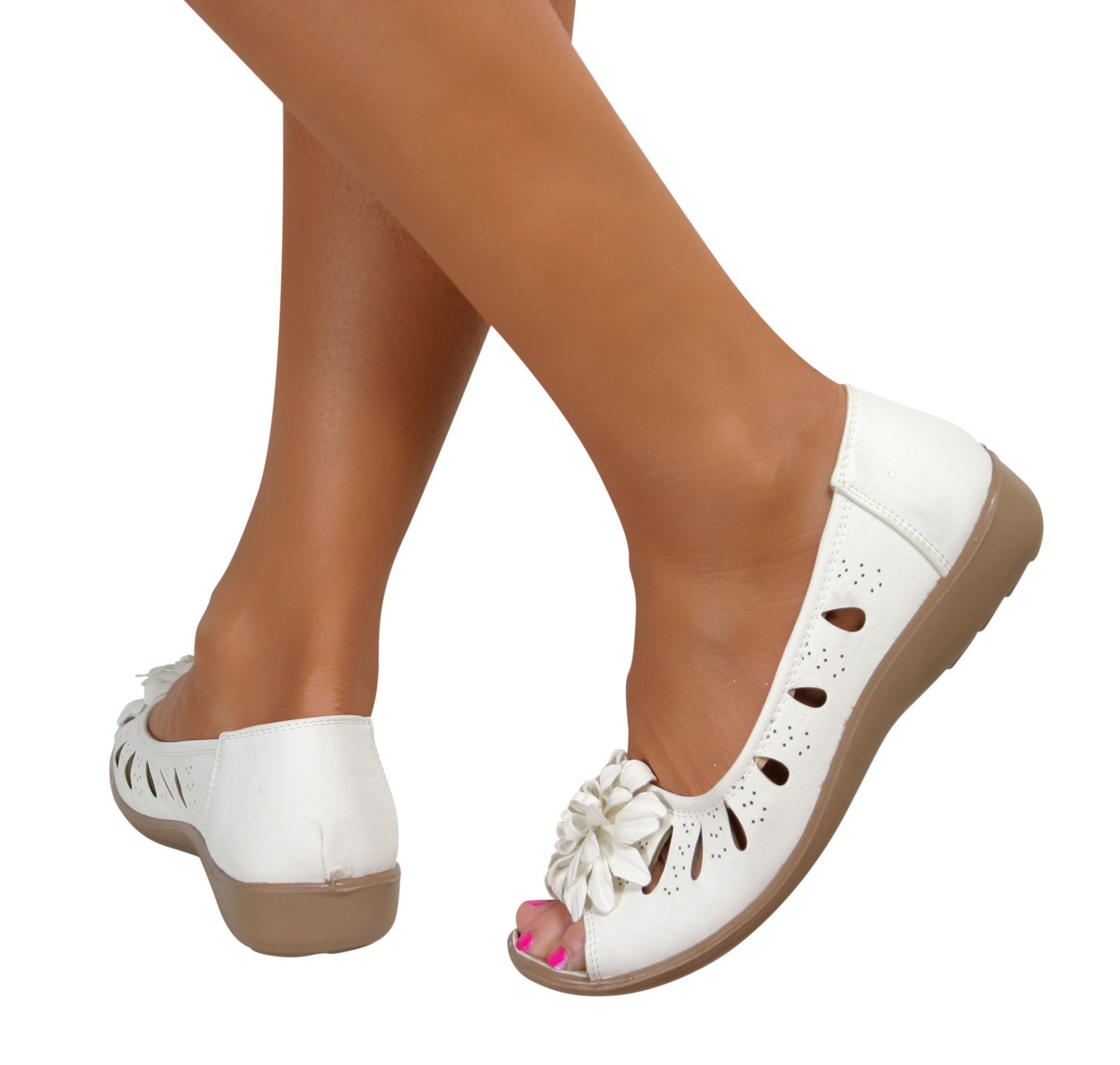 Wide Fitting Wedge Shoes Peep Toe