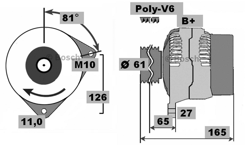 bosch alternator fits holden hsv xu6 vt vx supercharged v6. Black Bedroom Furniture Sets. Home Design Ideas