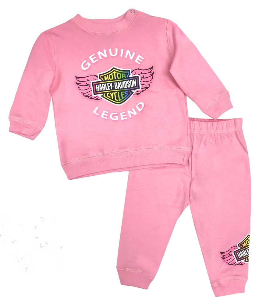 Harley-Davidson Baby Girls/' Sugar Glitter B/&S Tie-Dye Creeper Pink 3000739