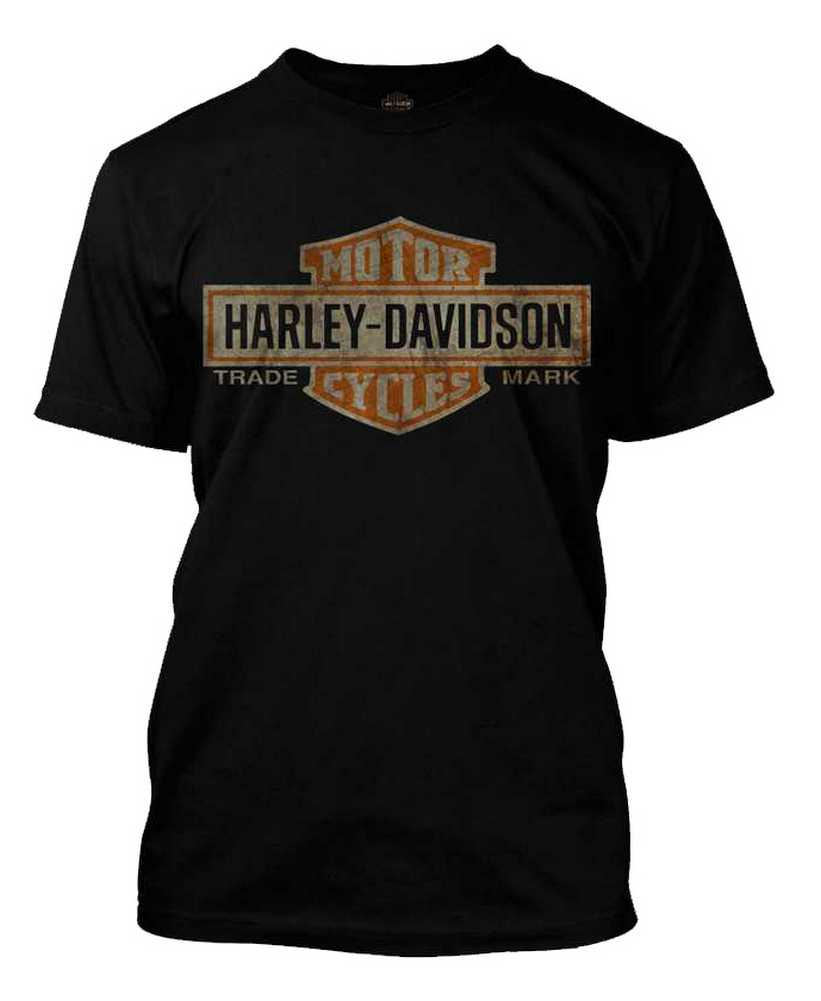 harley davidson men 39 s distressed elongated bar shield. Black Bedroom Furniture Sets. Home Design Ideas
