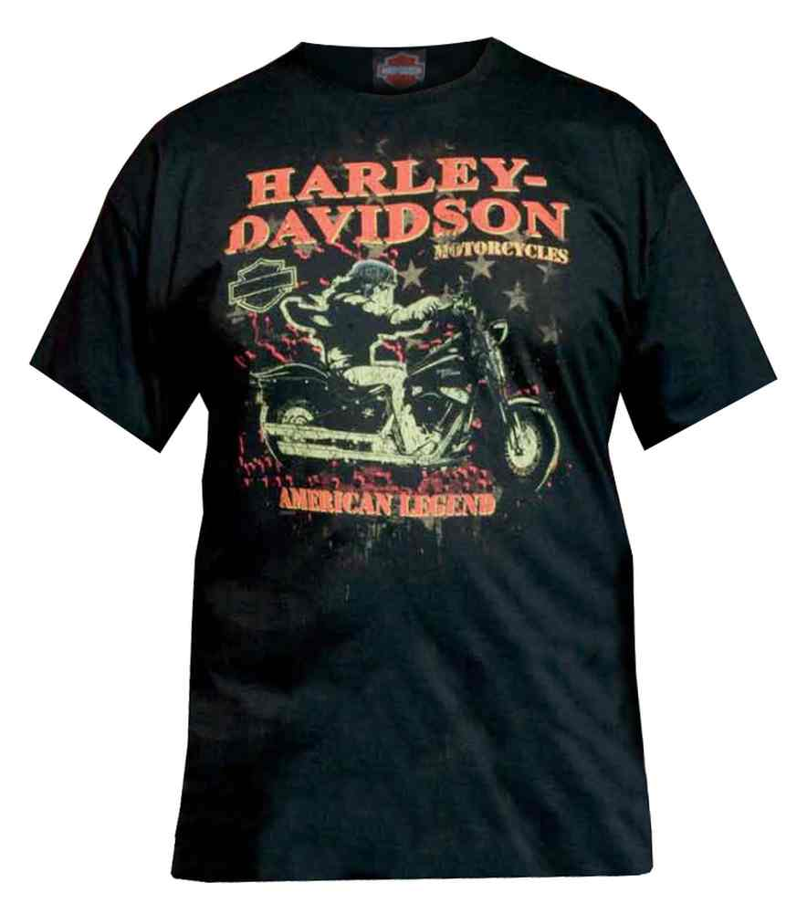 harley davidson men 39 s t shirt distressed night rider. Black Bedroom Furniture Sets. Home Design Ideas