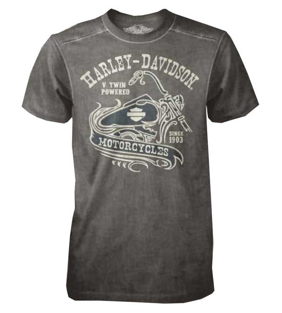 harley davidson mens black label t shirt v twin short. Black Bedroom Furniture Sets. Home Design Ideas