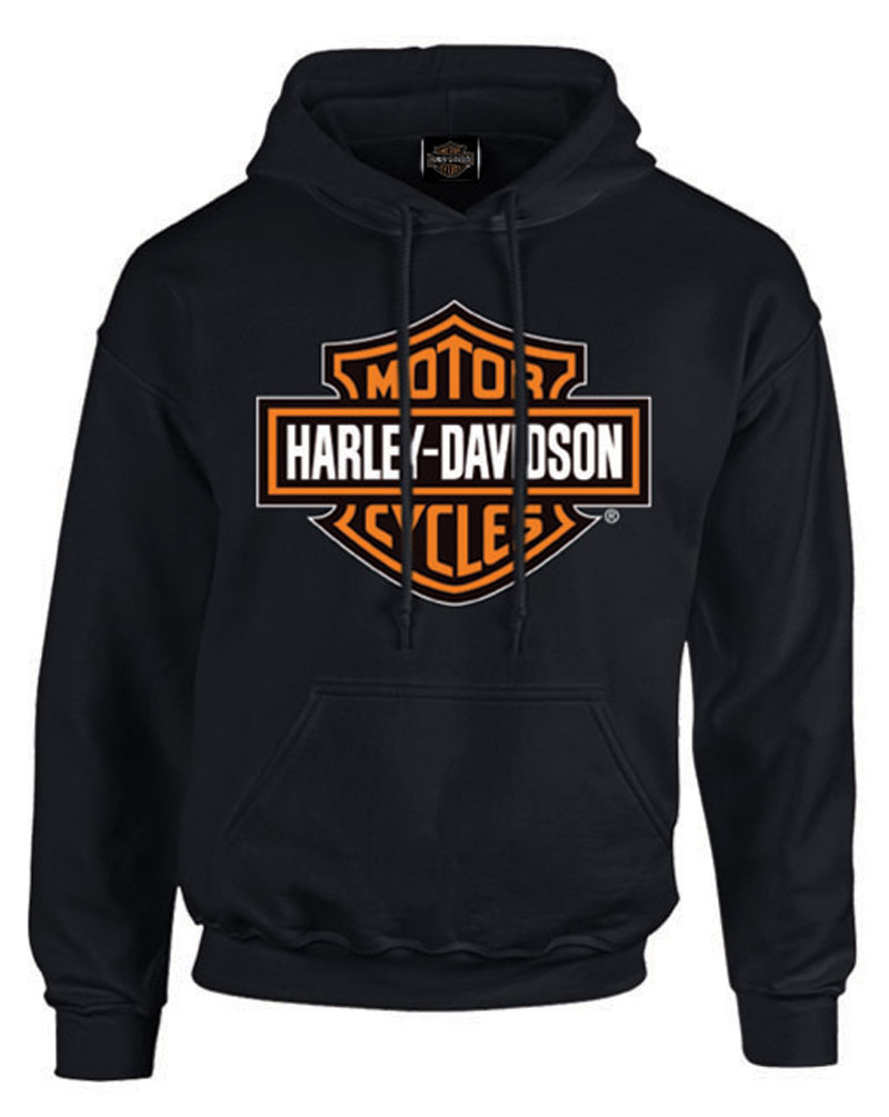 harley davidson men 39 s bar shield pullover fleece hooded. Black Bedroom Furniture Sets. Home Design Ideas