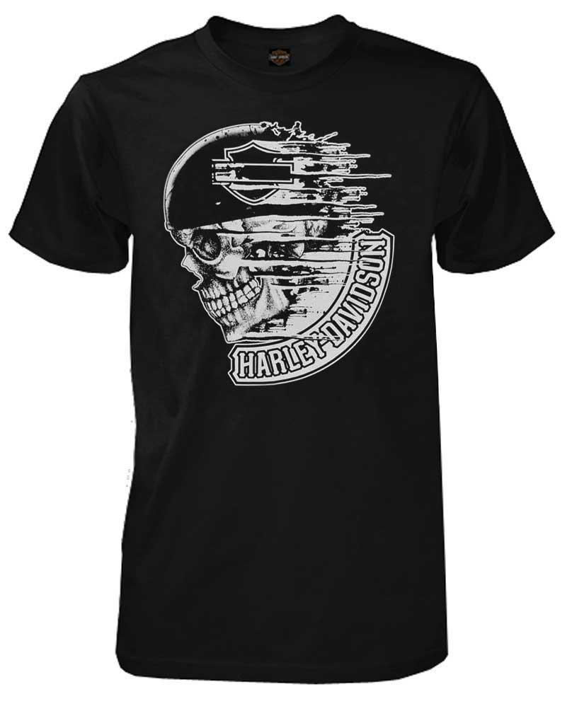 harley davidson men 39 s t shirt distress speed skull short sleeve black 30294028 ebay. Black Bedroom Furniture Sets. Home Design Ideas