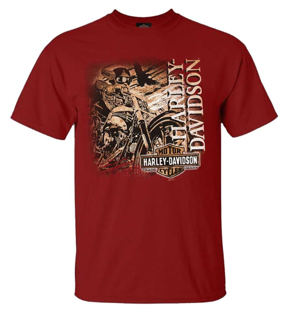 Harley-Davidson Men/'s Genesis Motorcycle Short Sleeve T-Shirt Antique Jade