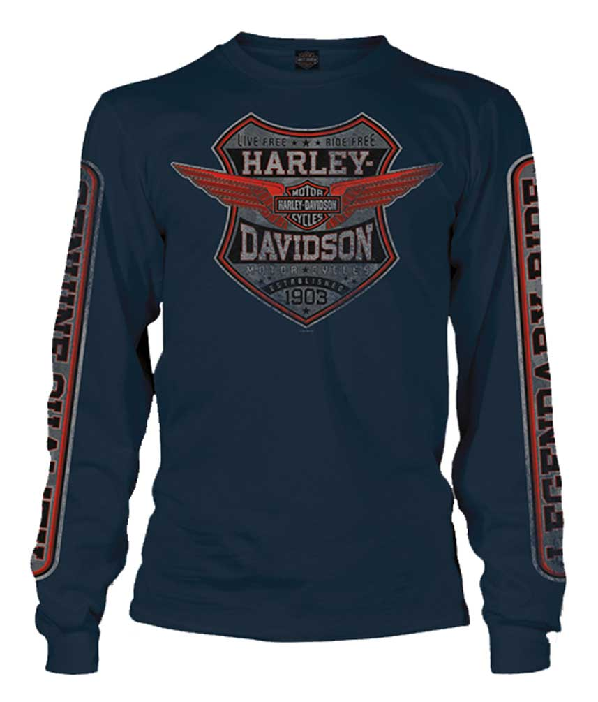 Harley Davidson Long Sleeve Shirts Ebay
