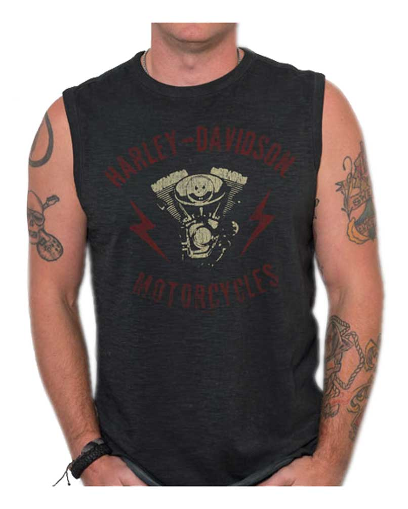 7a8c3f96223468 Harley-Davidson Men s Genuine Parts Premium Sleeveless Muscle Tank ...