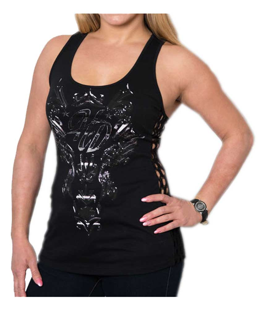 3ac520d169c Harley-Davidson Women's Metal Gear Solid Premium Side Lace Sleeveless Tank  Top