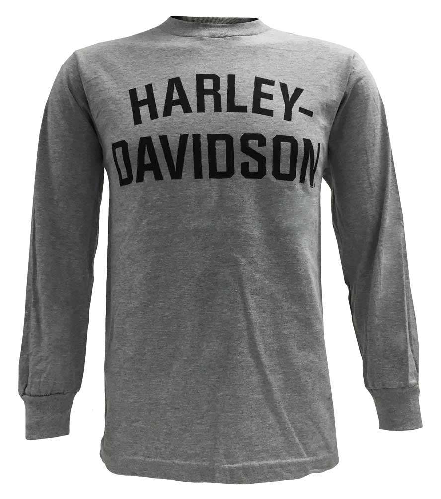 harley davidson men 39 s t shirt long sleeve tee heritage h. Black Bedroom Furniture Sets. Home Design Ideas
