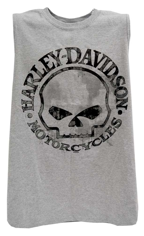 12df649d Harley-Davidson Men's Willie G Skull Muscle Tank Top Sleeveless Tee 30296650