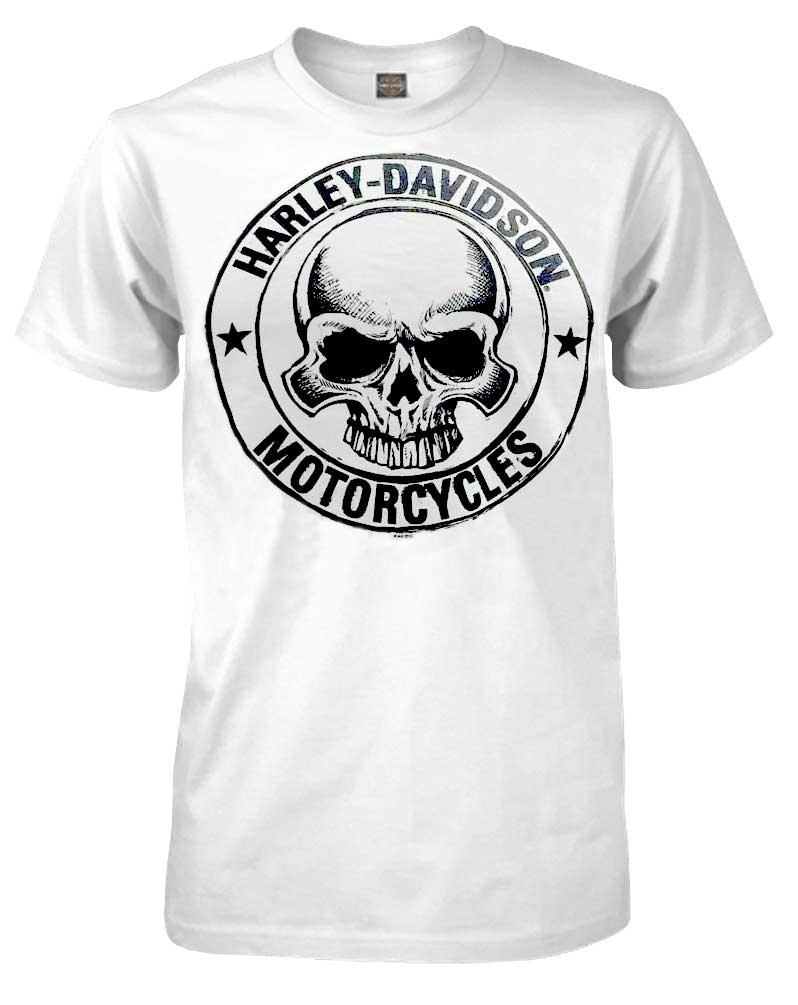 harley davidson men 39 s h d skull badge short sleeve t shirt. Black Bedroom Furniture Sets. Home Design Ideas
