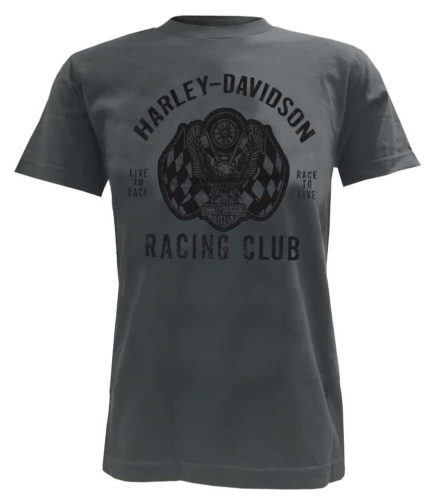harley davidson men 39 s racing club eagle short sleeve t. Black Bedroom Furniture Sets. Home Design Ideas