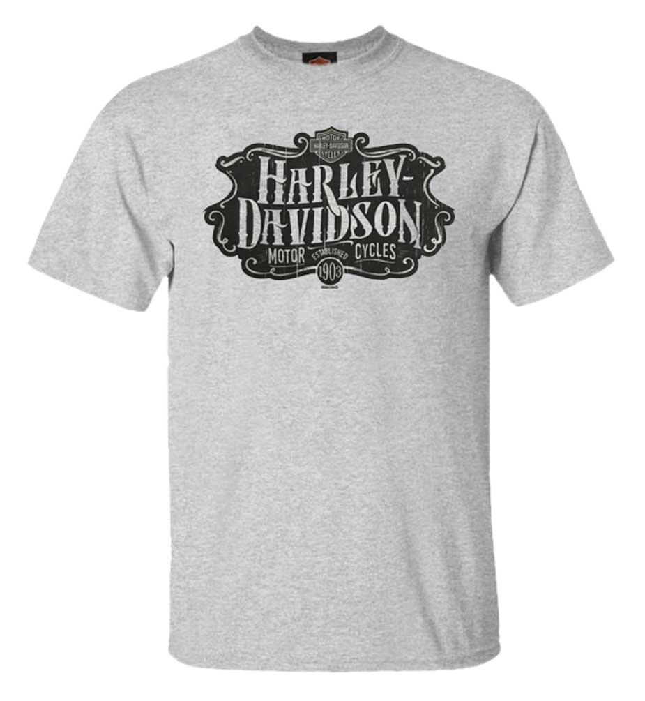 Harley-Davidson Men/'s Luminary Short Sleeve Poly-Blend T-Shirt Graphite Heather