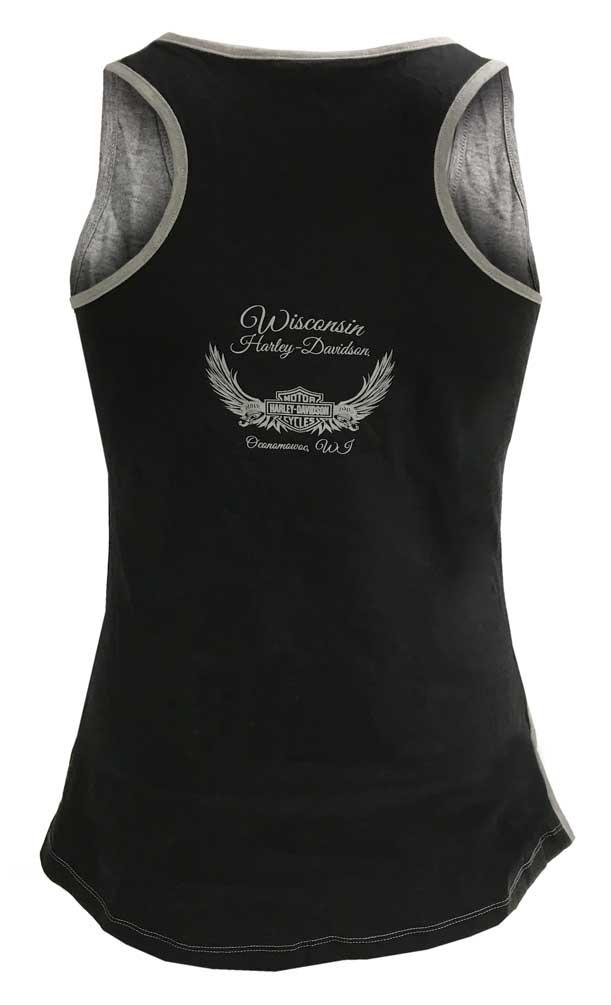 f0f97532 Harley-Davidson Women's Racerback Sporty Glam Embellished Sleeveless Tank  Top