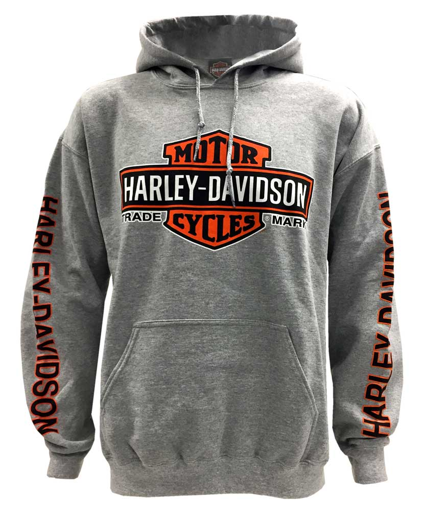 harley davidson men 39 s bar shield logo pullover hooded. Black Bedroom Furniture Sets. Home Design Ideas
