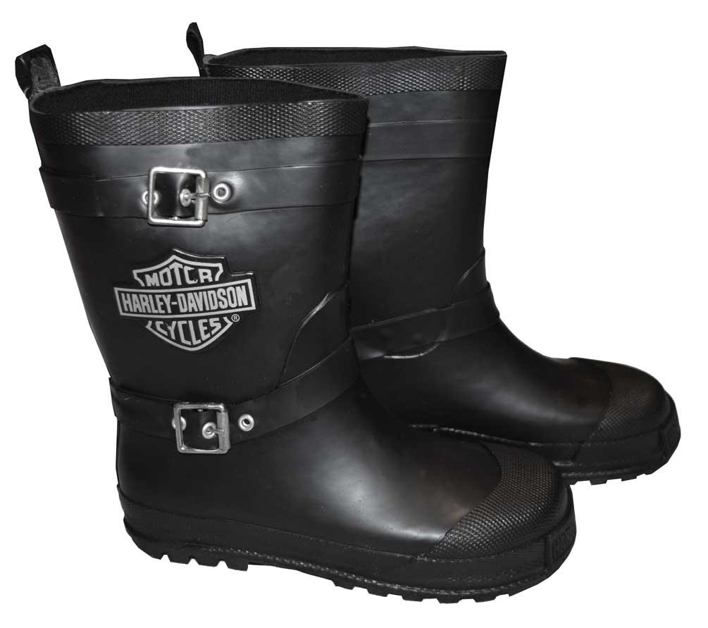 Harley Davidson Big Boys Biker Rain Boots Bar Amp Shield