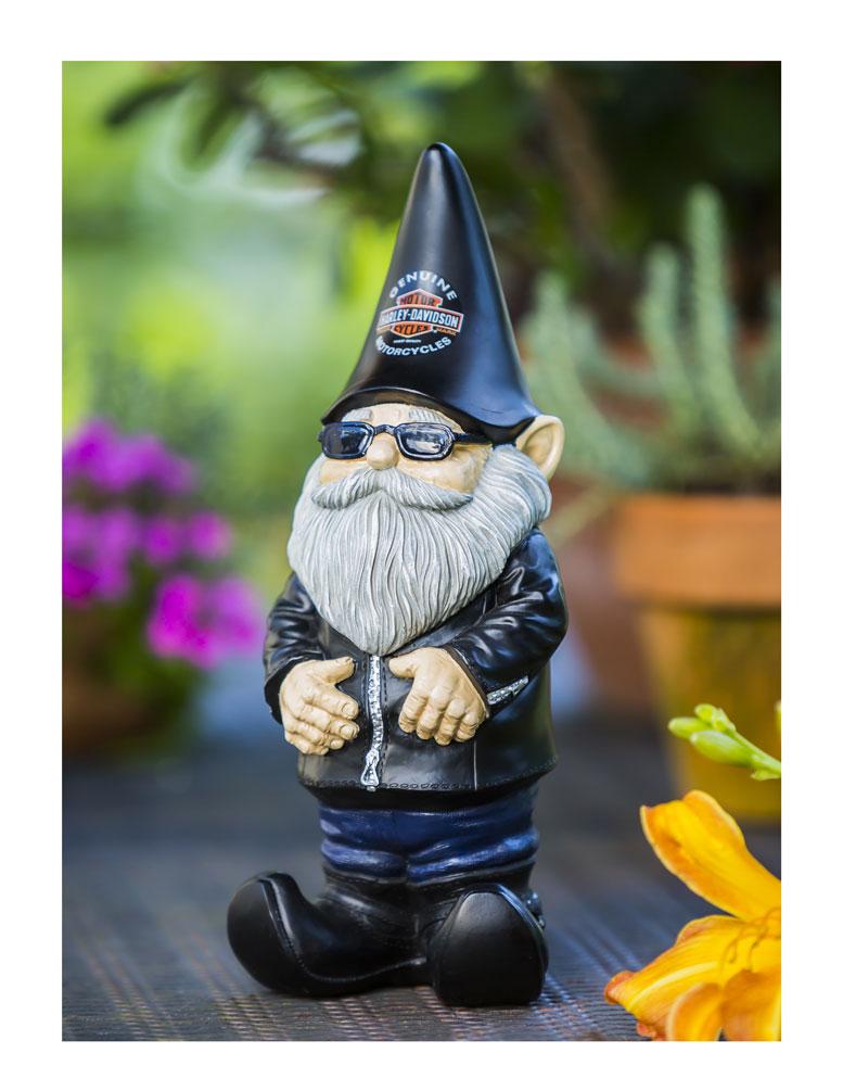 Gnome Garden: Harley-Davidson Biker Themed Garden Gnome, 4.5 X 3.5 X 11