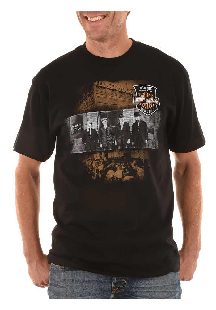 Harley-Davidson Men/'s Short Sleeve Pocket T-shirt Black 115th anniversary 2XL