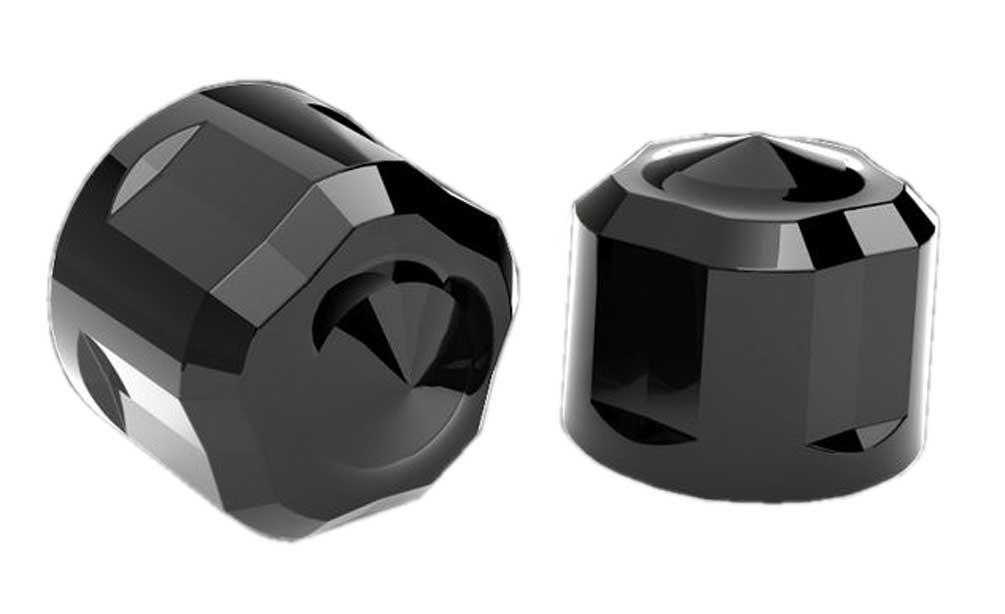 70003 Ciro Chrome Diamond-Cut Crown Bolt Cap Set For Harley Twim Cam