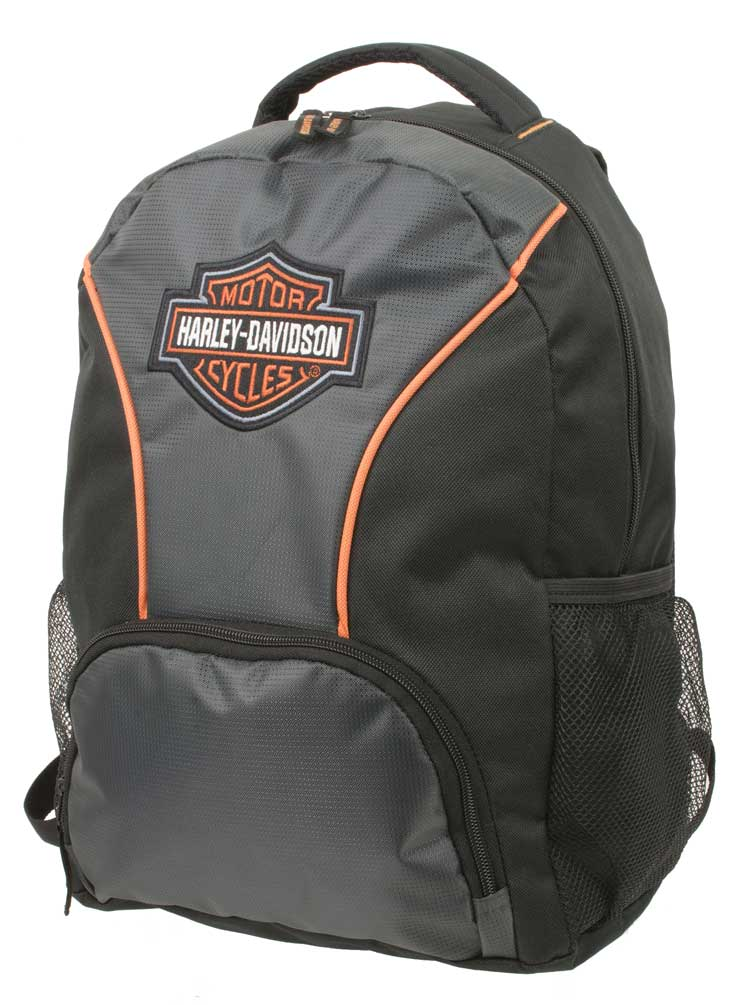 Harley Davidson Embroidered Bar Amp Shield Colorblocked Backpack Black 7180609 Ebay