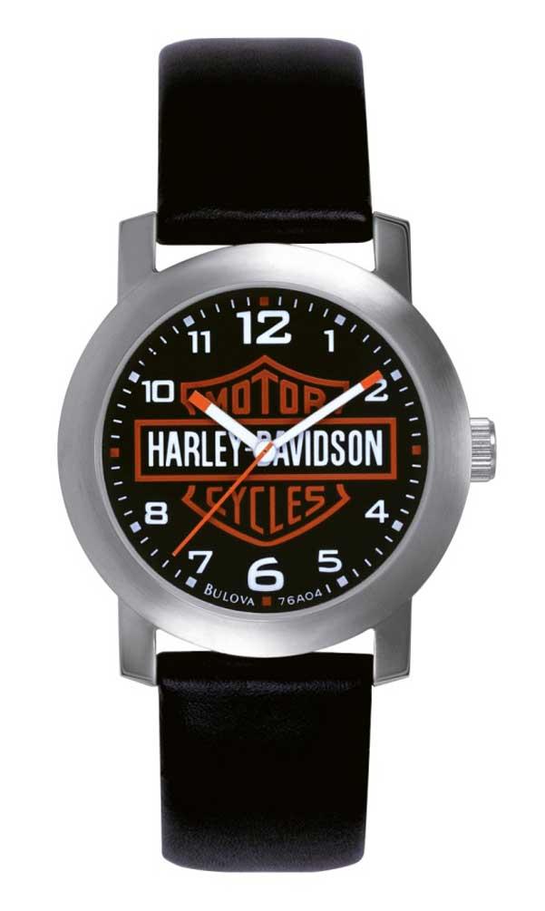 Harley-Davidson 's Bar & Shield Leather Wrist Watch 76A04 ...