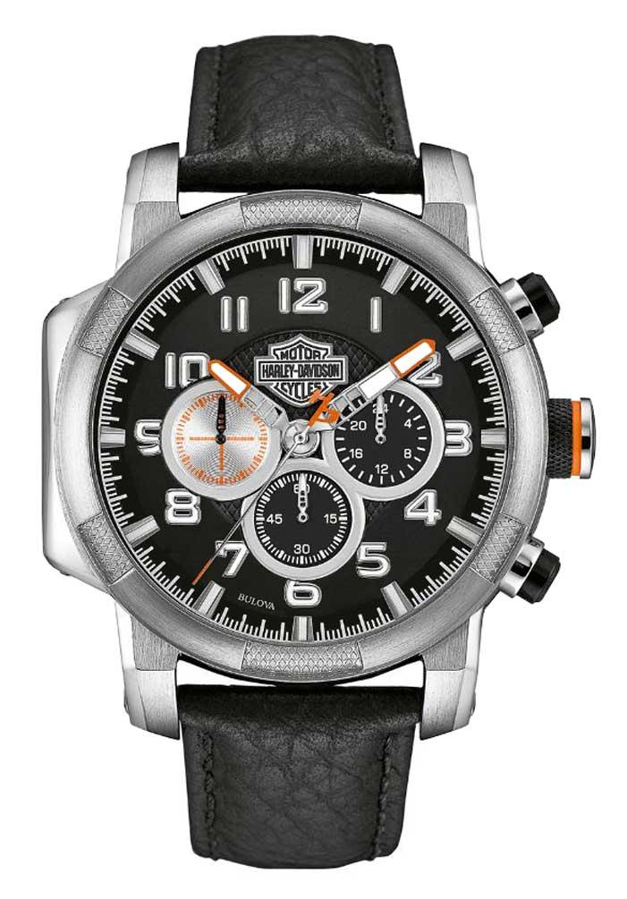 Harley Davidson Mens Chronograph Motorcycle Piston Watch