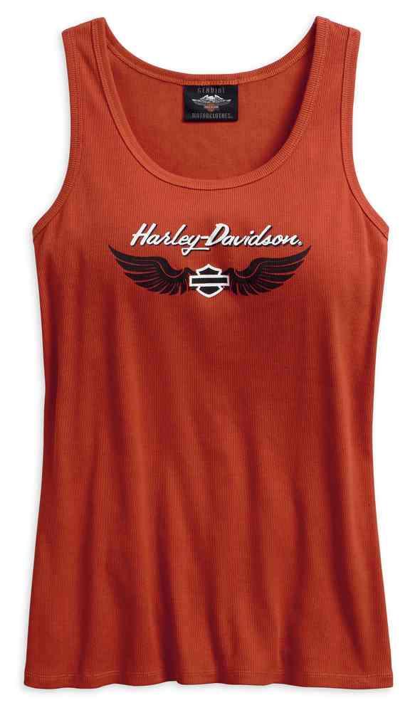 ece3131316fd5 Harley-Davidson Women s Winged Logo Sleeveless Tank Top