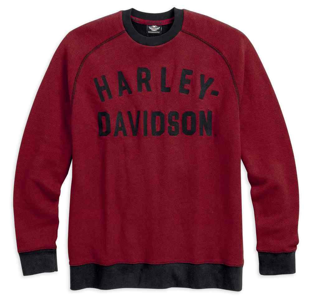 Harley Davidson Mens Vintage Inspired Raglan Long Sleeve Pullover
