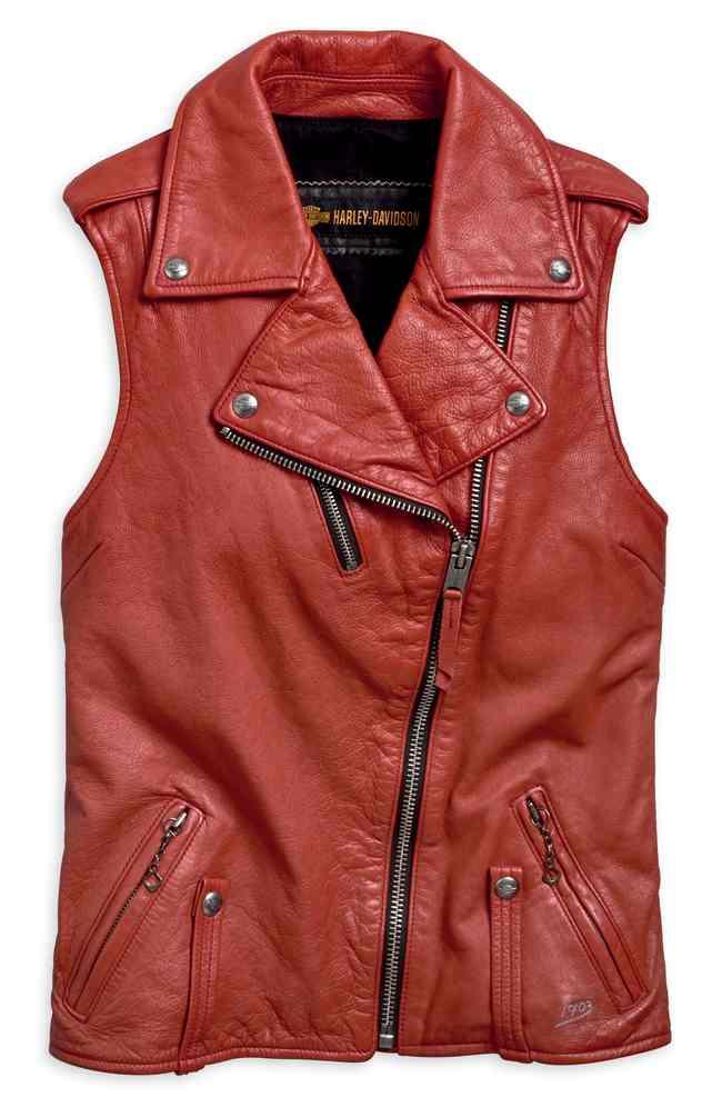 Leather King Women/'s Classic Four Snap Vest SH1227