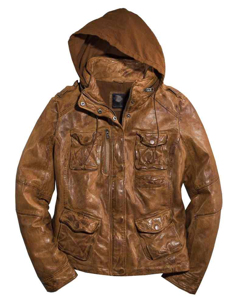 Harley-Davidson Women's Vintage Hooded Leather Jacket ...