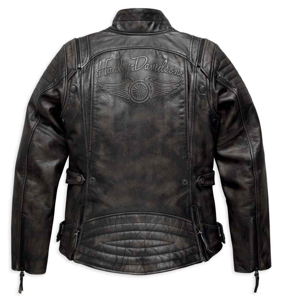 8ad7f78c6 Details about Harley-Davidson Women's Brava Convertible Leather Jacket,  Black 97173-17VW