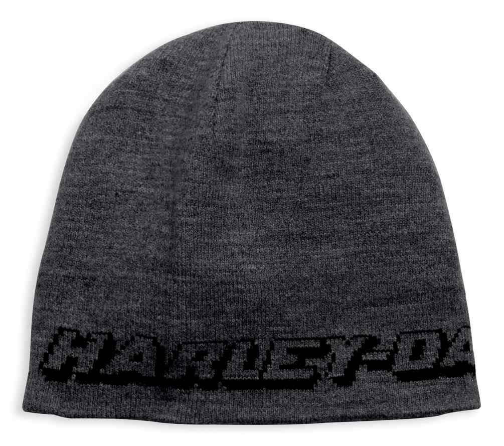 7946729a1 Details about Harley-Davidson Men's Reversible Eagle Patch Knit Beanie Hat,  Black 97778-19VM
