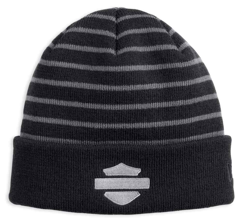 7834dbe4644 Harley-Davidson Men s Striped 2-IN-1 Knit Beanie Hat