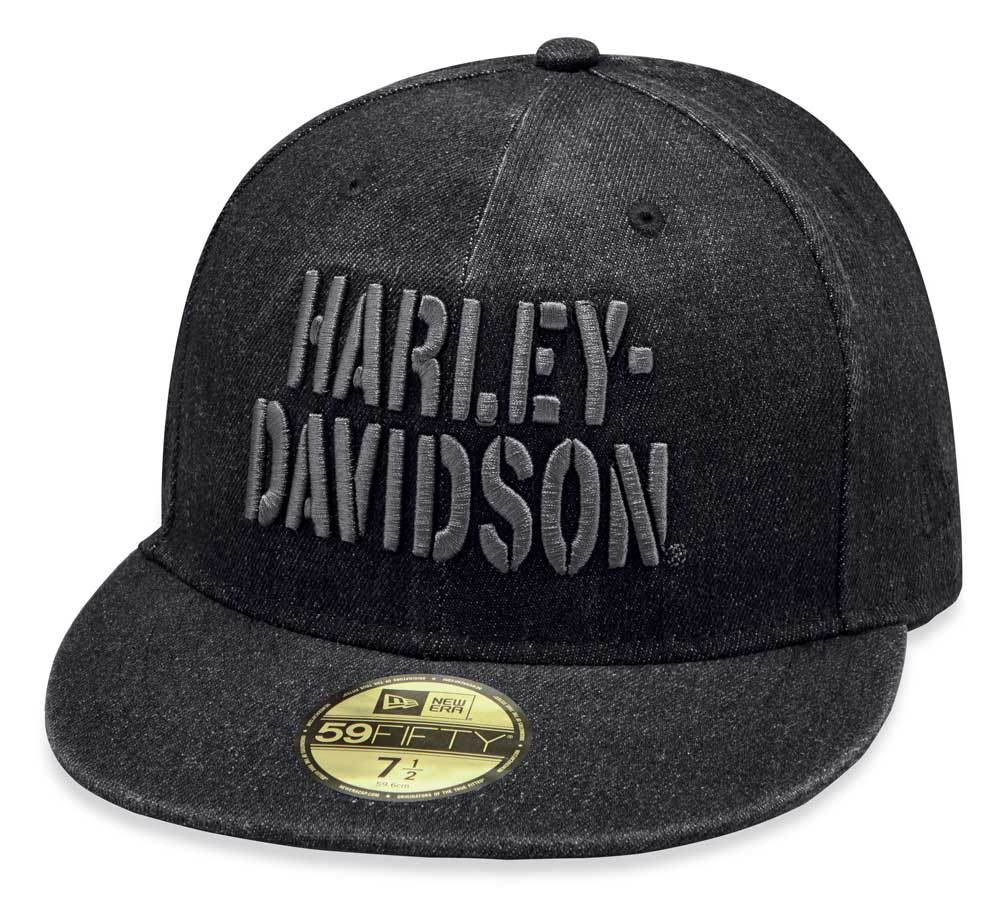 Harley-Davidson® 59Fifty Distressed Denim Fitted Hat