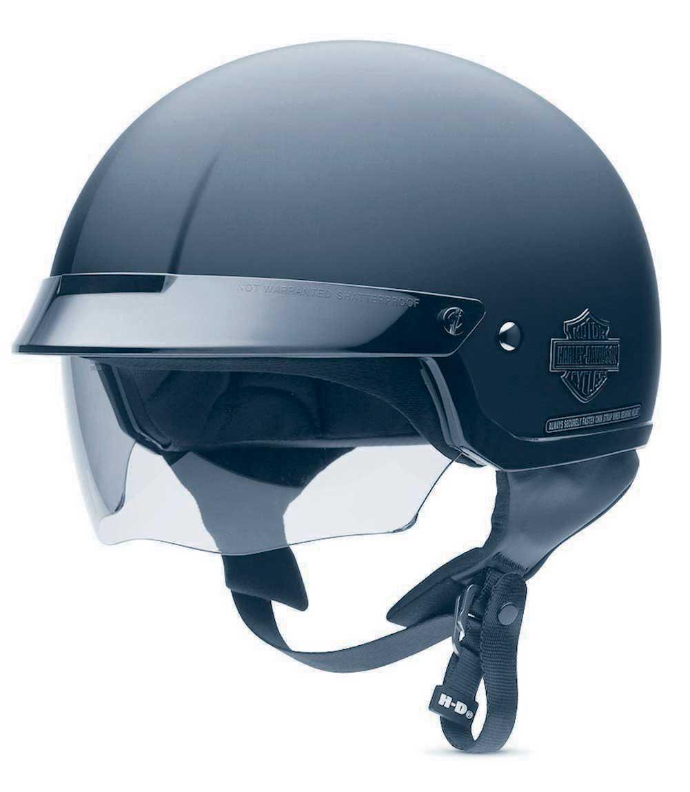 harley davidson men 39 s bar shield half helmet with sun shield 98224 11vm ebay. Black Bedroom Furniture Sets. Home Design Ideas