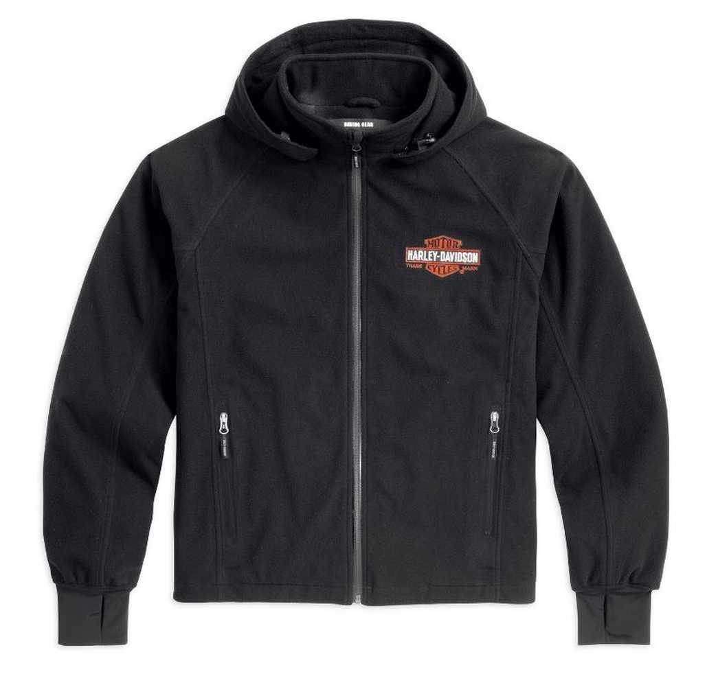 Harley-Davidson Men/'s SIZE XL Quilted Panel Bonded Fleece Jacket Gray Black