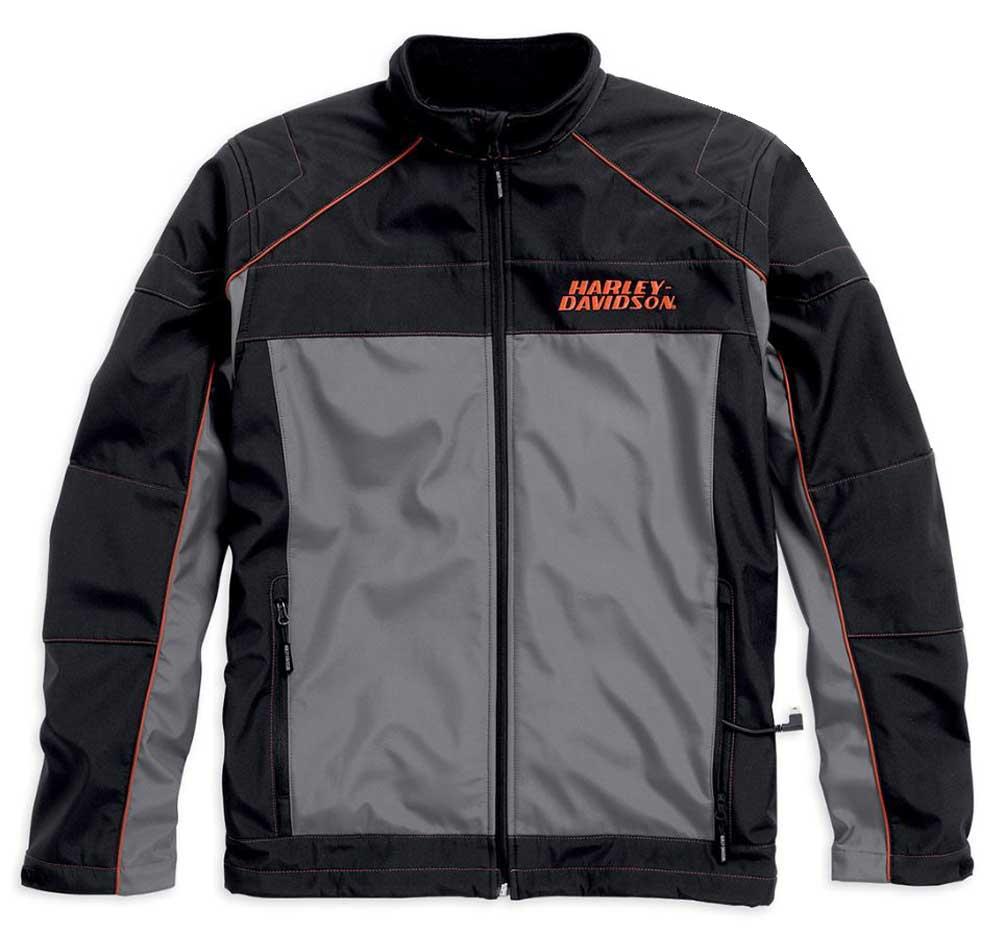 harley davidson men 39 s recumbent heated soft shell jacket. Black Bedroom Furniture Sets. Home Design Ideas