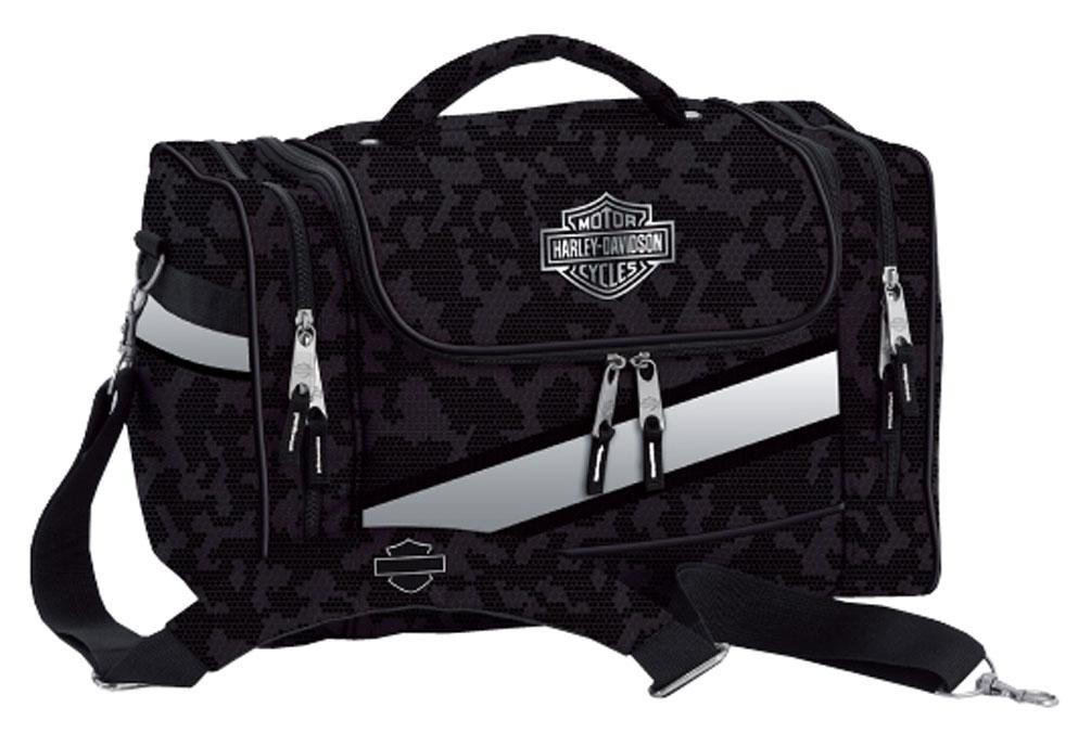 harley-davidson extreme bar & shield hop-along duffel bag