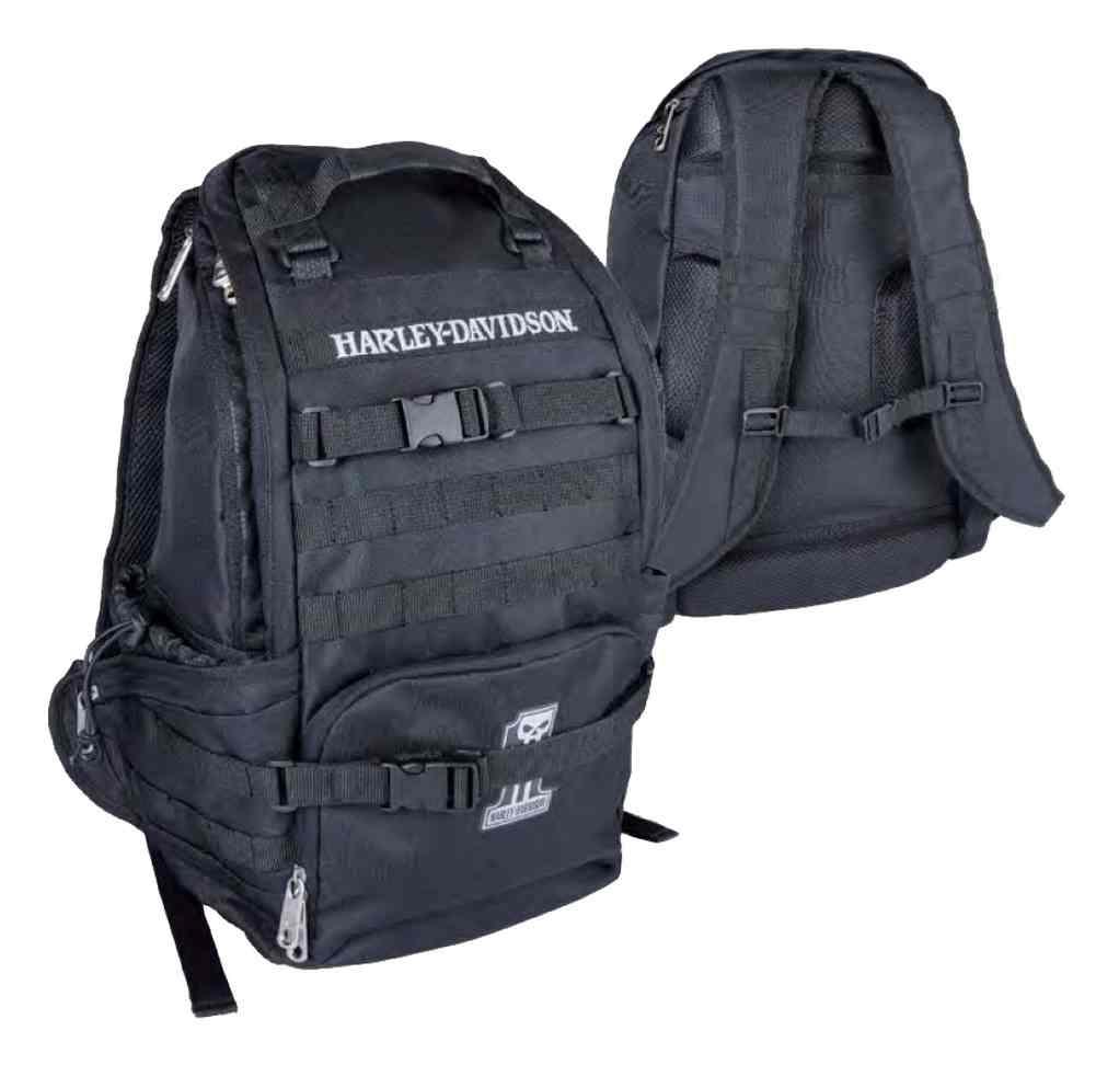 harley davidson night ops stellar backpack 1 skull patch. Black Bedroom Furniture Sets. Home Design Ideas