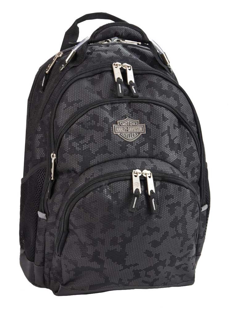 harley davidson bar shield steel backpack high density. Black Bedroom Furniture Sets. Home Design Ideas