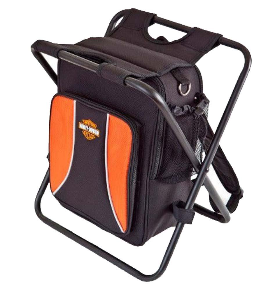 harley davidson backpack cooler seat orange black 99304. Black Bedroom Furniture Sets. Home Design Ideas