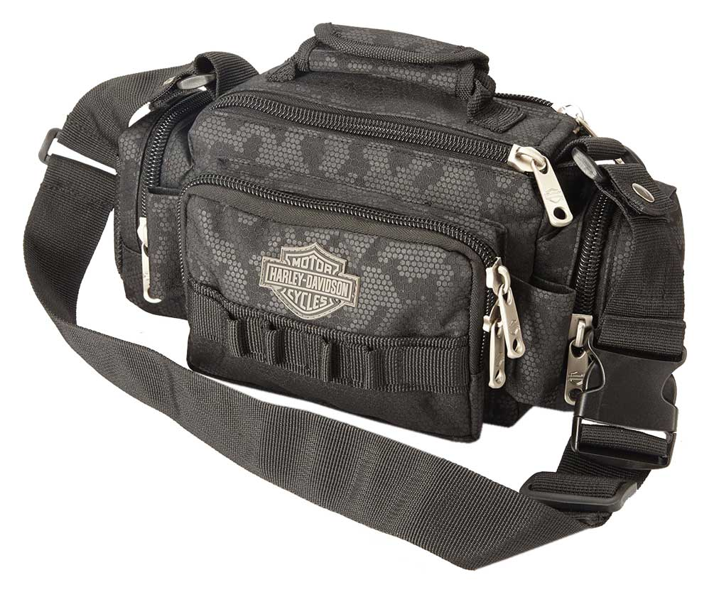 "harley-davidson ""molle"" night-vision sidekick bag, gray & black"